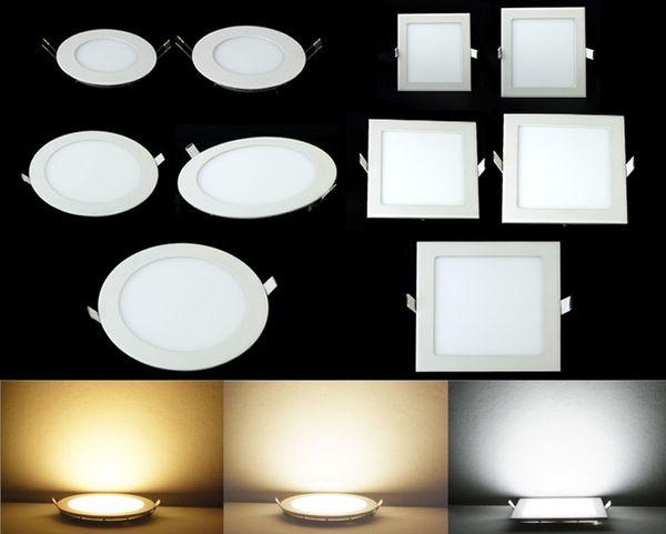 Led Down Lights Luces de panel 3W 6W 9W 12W 15W 18W 24W Led Luces empotradas Downlights Luminaria de techo Down Light Warm / Cool / Natural White # 25