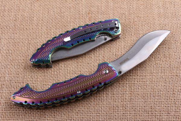 Utensile da taglio Cold Steel Spartan Knife StoneWash 5Cr15Mov 57HRC Color Steel Handle Dog Leg Coltello da campeggio tattico con scatola F724E