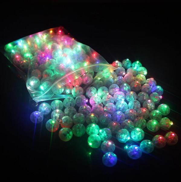100 Pcs Ronde Balle Led Ballon Lumières Mini Flash Lampes pour Lanterne De Noël Décoration De Fête De Mariage Blanc, Jaune