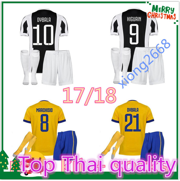 3664e75c301 top Thai quality 17 18  10 DYBALA Soccer Jersey men Kit + socks 2017 2018