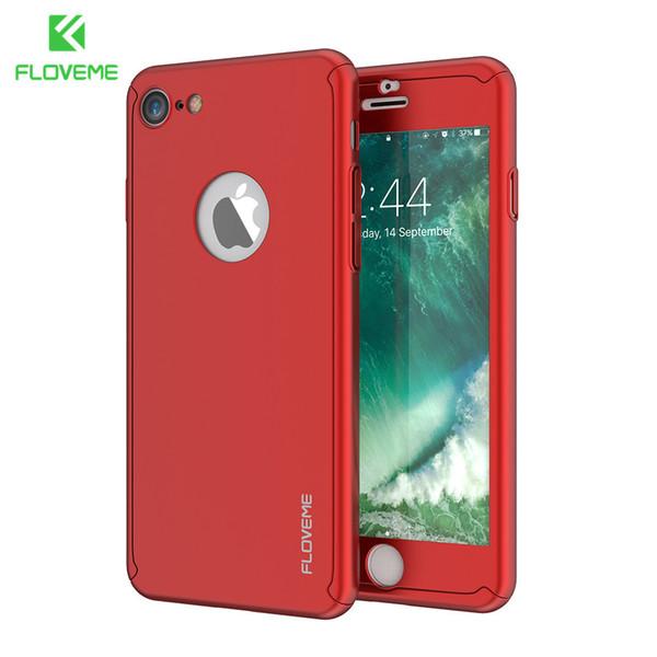 ab5459a69ee FLOVEME 360 estuche duro de protección completa para el iPhone 6 6s más PC  de vidrio