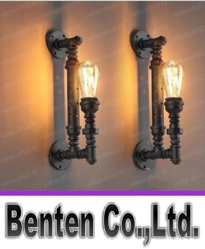Промышленный деревенский стимпанк металлическая труба Эдисон лампы старинные настенные светильники балкон бар свет с E27 лампы ржавчины трубы бра LLFA11