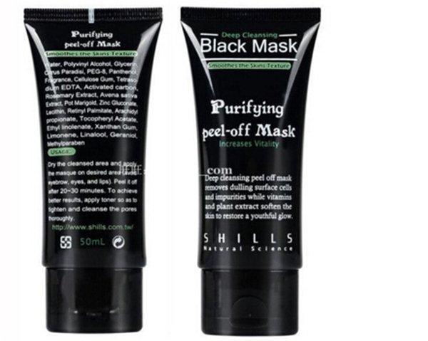 SHILLS Deep Purificante purificante peel off Black fango nero testa strisce poro remover pilaten Facail face mask Rimuovere blackhead facia