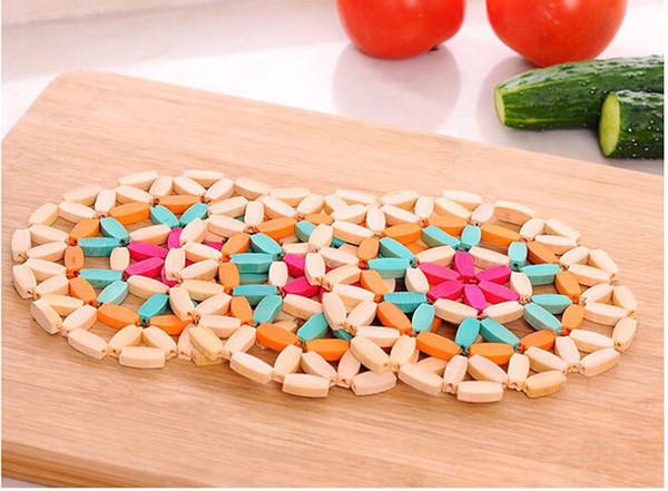 großhandel runde bambus cup mats disc pads schüssel pad, Esszimmer dekoo