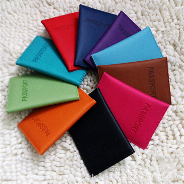 Passport Wallets Card Holders Passport Cover Case Protector PU Travel Bag 10 Colors 14.2*9.8CM ELW007 Free Shipping
