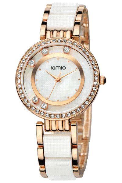 Berühmte kimio k485m markenuhr frau mode kleid uhr dame voller stahl strass quarz armbanduhr hohe qualität kristall uhr