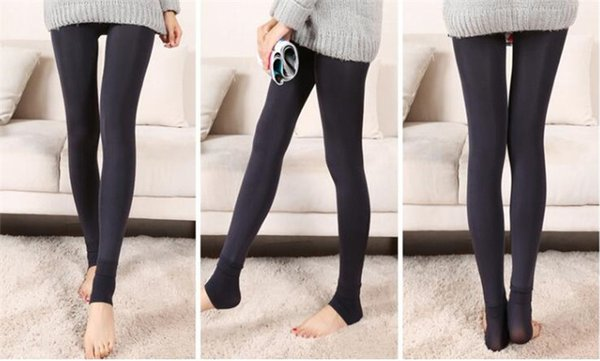 best selling 60pcs Fall Winter Sexy Women Leggings Fur Thick Warm Fleece lined Fur Winter Lady's Black Tights Pencil Pants 8 Colors A020