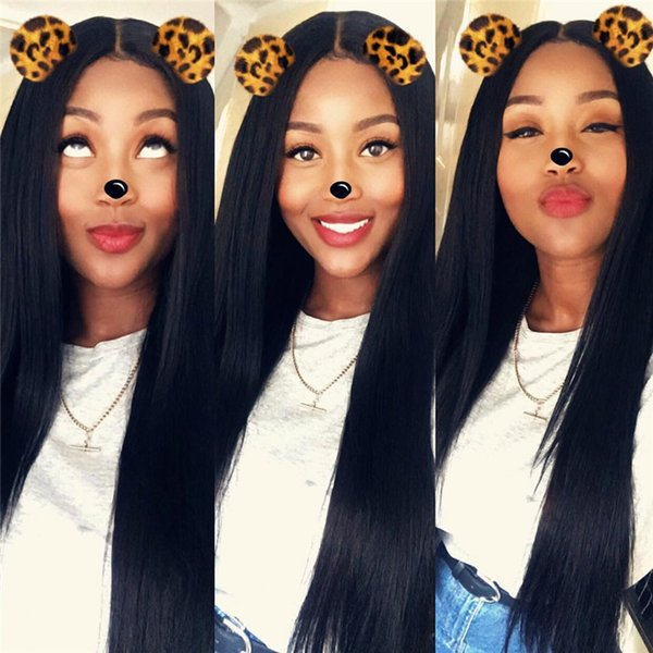 Full Lace Wigs With Baby Hair 100% Unprocessed Brazilian Virgin Human Hair Wigs For Black Women Middle Part Lace Front Wig Natural Hairline