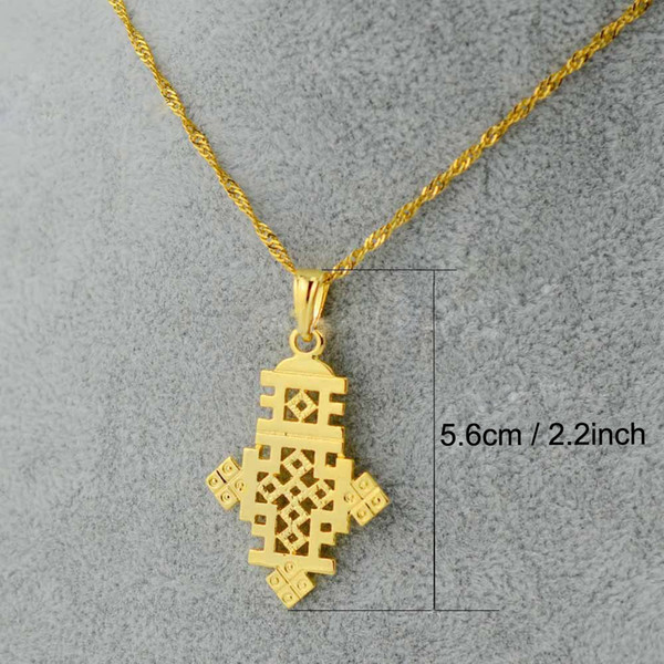 ethiopian Cross gold jewelry fashion pendant and chain eritrea