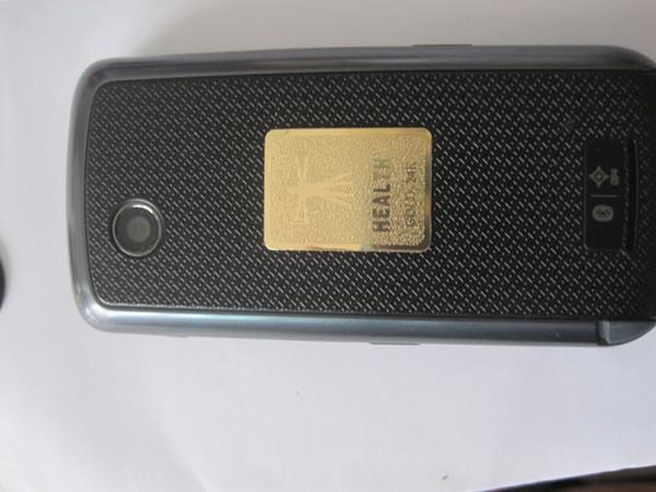 Fabbricazione - anti- adesivo di radiazione del telefono mobile dell'oro 24K all'ingrosso Bio- ione scalare di energia negativa stickr50pcs / lot da trasporto libero