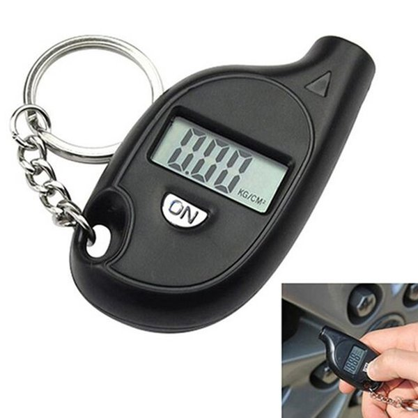 Pressure gauge 2016 Shenzhen priced spot wholesale pocket with key chain Mini Digital Tire