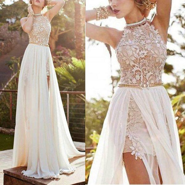 Sexy de encaje de noche largo vestido de fiesta formal vestido de baile Nueva alta calidad bajo precio mujeres dreses playa envío gratis
