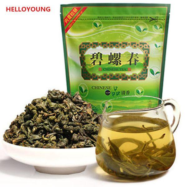 250g de haute qualité Biluochun thé vert bio chinois cru thé Nouveau printemps thé vert emballage d'aliments bande d'étanchéité vente chaude