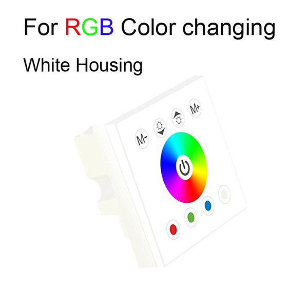 Touch Panel Remote Controller Switch 12V 24V Rainbow Color Ring Wall Mounted Dimmer for 5050 SMD RGB RGBW Strip Light CE ROSH MOQ10 DHL