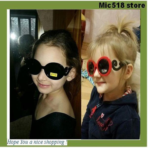 2016 vogue Children Sunglasses vintage cool kids sun glasses eyewear Baby Boys girls Gradient Round Gafas Oculos De Sol 10 colors