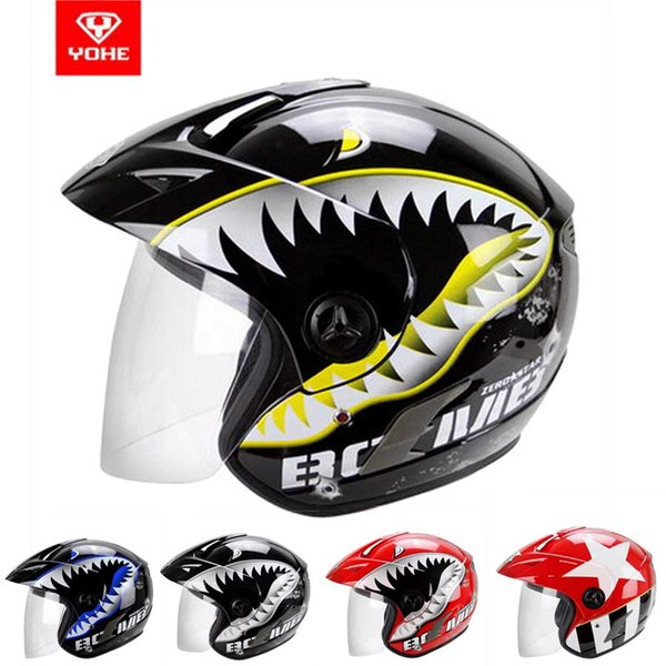 YOHE Half Face motorcycle helmet electric bicycle motorbike helmets made of ABS YH-887A size S M L XL XXL 10 colors