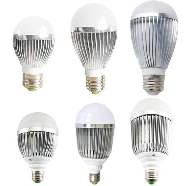 Warm Pure White E27 Bulb Led Light 3W 5W 7W 9W Super Bright 110V 220V Globe Lamps Non-Dimmable Replacement Fluorescent Halogen Cfl Bulbs