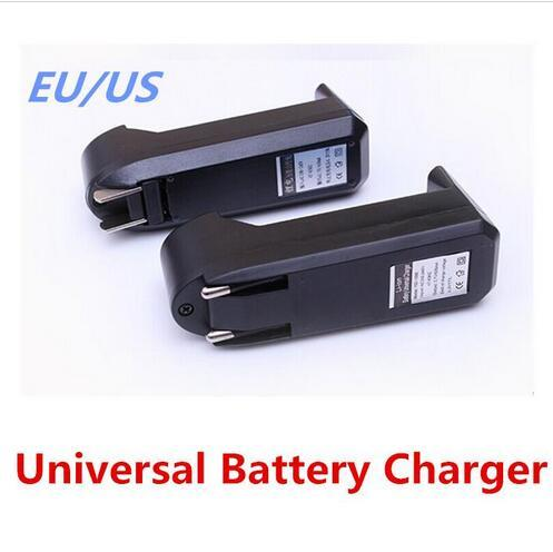 top popular Universal Single Slot Charger For 3.7V 450mA 18650 16340 14500 Li-ion Rechargeable Battery EU US Plug Charge Adapter DHL free 2019