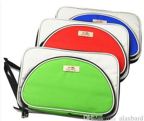 2PCS- ping pong bag Double fish T shape single tier set table tennis racket cover -BEST