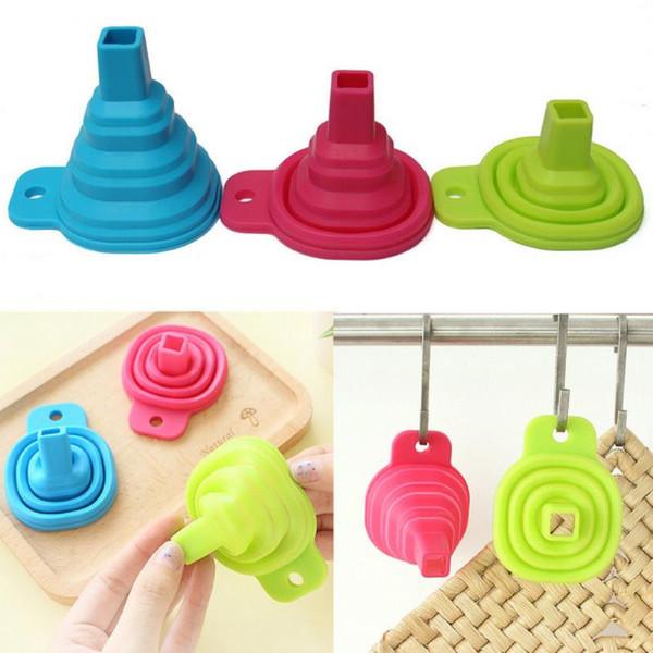 Mayitr Mini Silicone Pliable Entonnoir Trémie Entonnoirs Pliables Outils de Cuisine Accessoires Cuisine Maison Gadget Outils