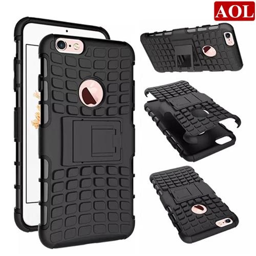 For iphone 7 7plus 6 6s plus 5s SE 5C Armor Rugged Square Hybrid Spider Hard PC +TPU Case Stand ShockProof Skin Cover