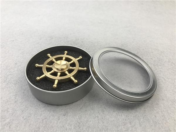 30pcs gouvernail en métal Fidget Spinner Laiton usiné spinner EDS Anti-stress 3min Spinning Metal Spinners Fidget Spinner Décompression Nouveauté