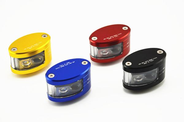 Evrensel Motosiklet CNC Fren Debriyaj Master Silindir Sıvısı Rezervuar Deposu Yağı Fincan fren reservoirr Ücretsiz Kargo
