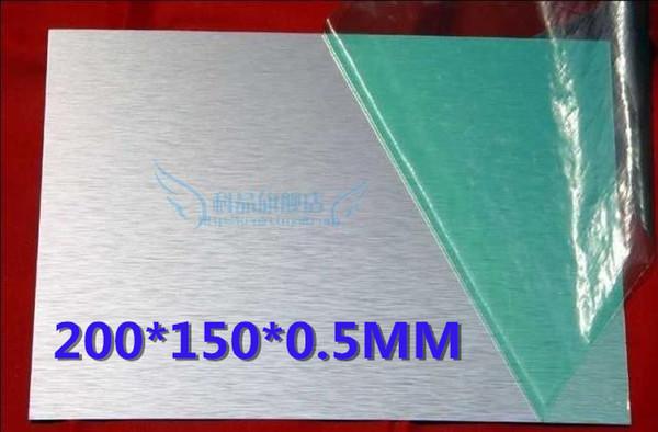 Atacado-200 * 150 * 0.5 MM folha de alumínio 5052 # folha de alumínio superfície escovada placa de perfil de placa de metal flocos retangular