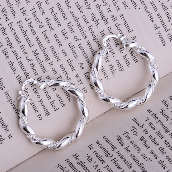 Boucles d'oreilles en argent plaqué argent 925 bijoux pour femmes Boucles d'oreilles en argent LQ-E156 IOGIYBAH