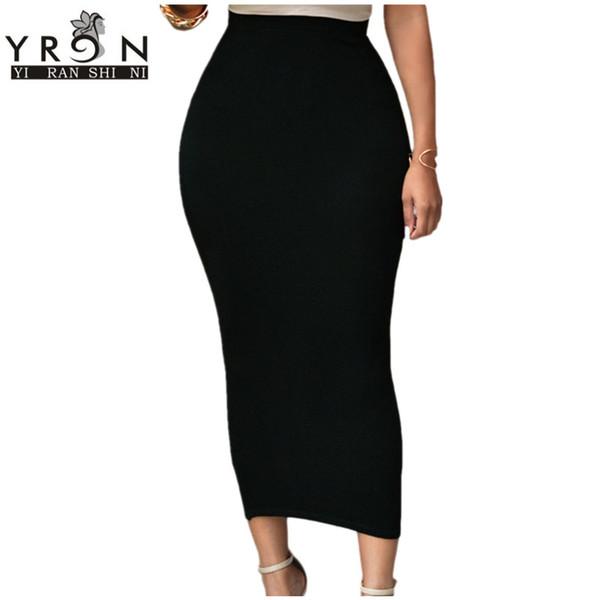 Vente en gros-Jupes Pour Femmes Sexy Noir / Gris / Vert Taille Haute Bodycon Maxi Jupe LC71188 Longues Jupes Hiver Taille Haute Jupe Crayon