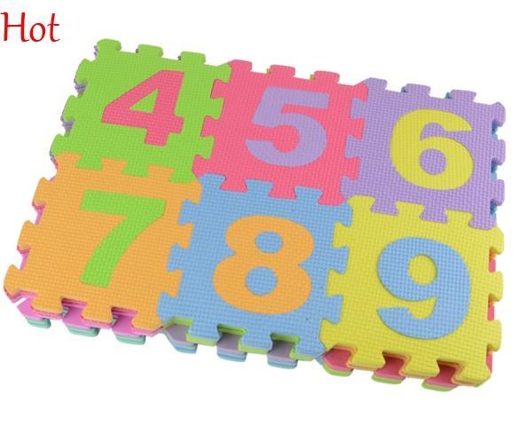 Hot 36 teile / satz Alphabet Ziffern Kinder Teppich Babyspielmatte Buchstaben Weichen Boden Krabbeln Mini Puzzle Matten für Kinder Kinder Schaum Spielmatte 18525