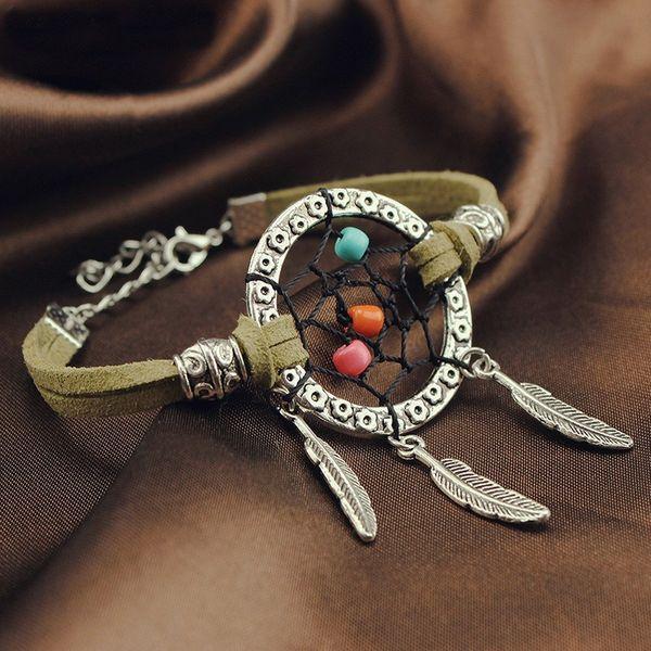 2016 Vintage Enchanted Forest Mini Dreamcatcher Bracelet À La Main Dream Catcher Net Bijoux Décoration Ornement Diamètre 3 cm