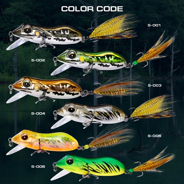 Luxury Series Brand Sft 2017 New Type Frog Fishing Lure Fishfrog Bass Sneakhead Crankbait Simulation Frog Lure Artifical Bait