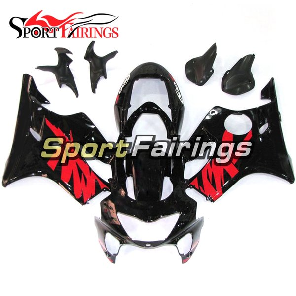 Injection Mold Motorcycle Complete Fairings For Honda CBR600 F4 Year 1999 2000 99 00 Plastics ABS Injection Fairing Kit Black Red Bodywork
