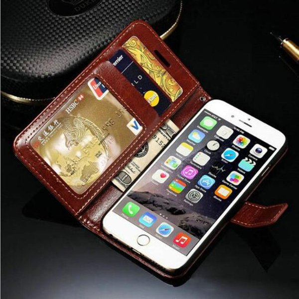 For Apple Iphone 6 6S 4.7 Megnetic Wallet Leather Cases Flip Stand Covers For Iphone 6 Mobile Phone Bags With Card Slots