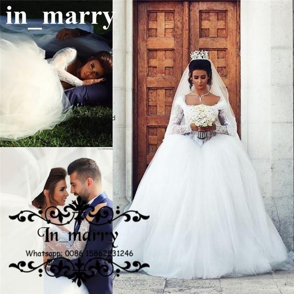 Princess Arabic Ball Gown Wedding Dresses 2015 Plus Size Scoop ...