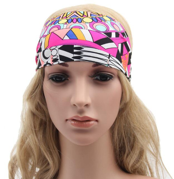 Hot Bohemia Headbands Women ladies Yoga Wash Face Sport headband Hair Bands Wide Head Wrap Floral Hair Accessories jewelry