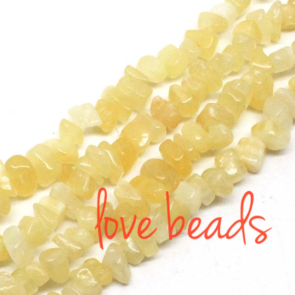5mm-8mm Irregular Natural Beige Jade Gravel Stone Loose Beads Material Stone Strand 80CM Diy Bracelets (F00388) jewelry making