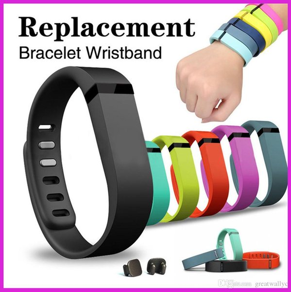Fitbit Flex Wristband Large Small Band With Metal Clasps Replacement Rubber TPU Wrist Strap For Activity Bracelets Smart Wristbands VS U8