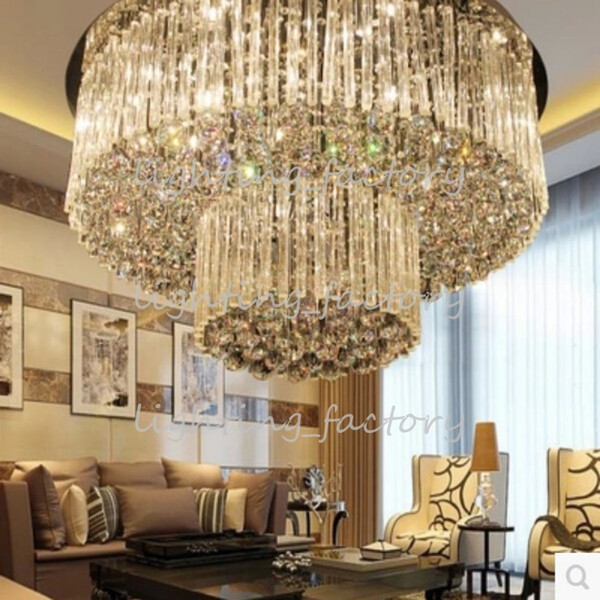 Free shipping new item luxury crystal lamp Dia800*H360mm modern lustre crystal chandelier lighting hotel lobby light