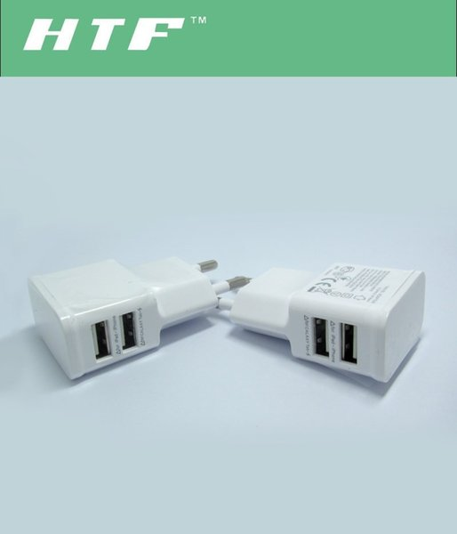 Universal 5V 2.1A Travel Adapter US EU Plug USB Wall Chargers For Samsung Galaxy S6 S5 Note 2 3 LG Cell Phone