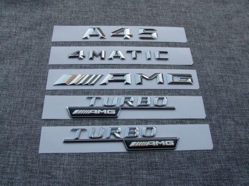 1 комплект наклеек с буквами на номер багажника автомобиля для Mercedes Benz AMG класса