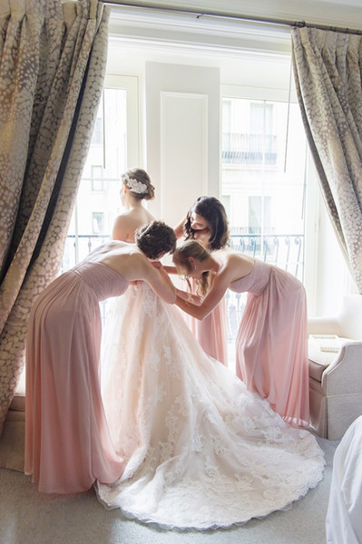 Stunning Lace Ball Gown Wedding Dresses Light Champagne Court Train Pleats tulle Floral Applique Shining Sequins Zipper Back with Buttons