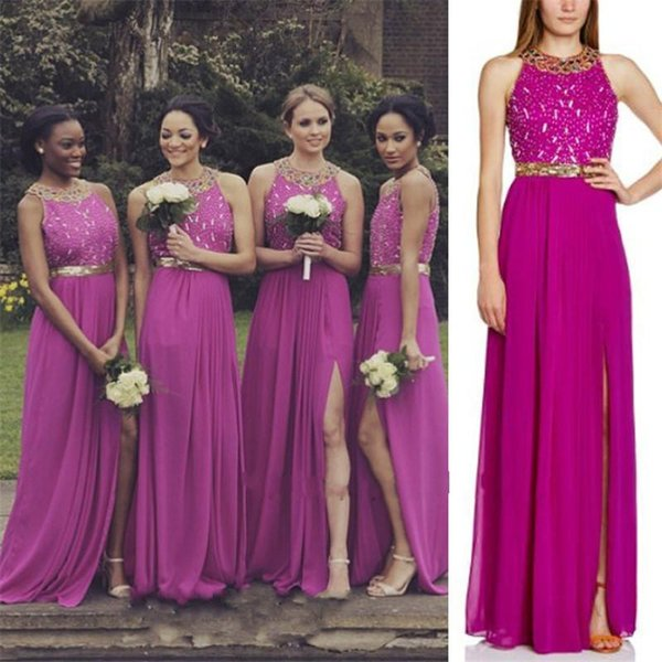 Greek 2016 Plus Size Bridesmaid Dresses Fuschia Chiffon ...