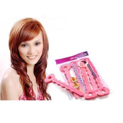 Mode Rosa Weiche Lockenwickler Schwamm Spirale Locken Roller DIY Salon Werkzeug 6 Stücke # R48