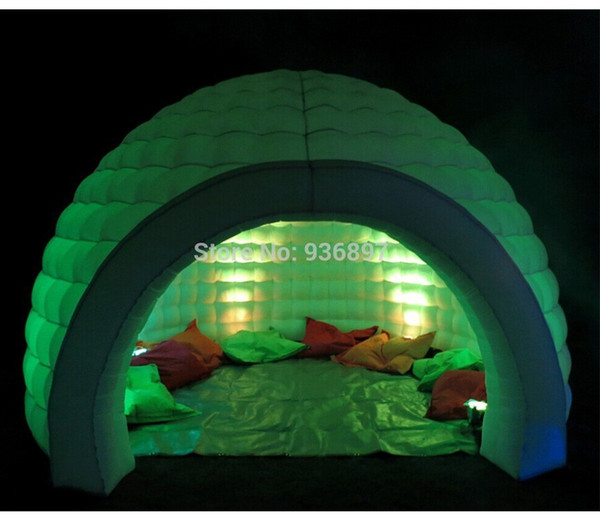 party inflatable igloo tent dome tent with color changing LED light & party inflatable igloo tent dome tent with color changing LED ...