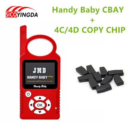 Wholesale-2016 Handy Baby CBAY Hand-held Car Key Copy Auto Key Programmer for 4D/46/48 Chips CBAY Chip + 10pcs 4C/4D Transponder Chip