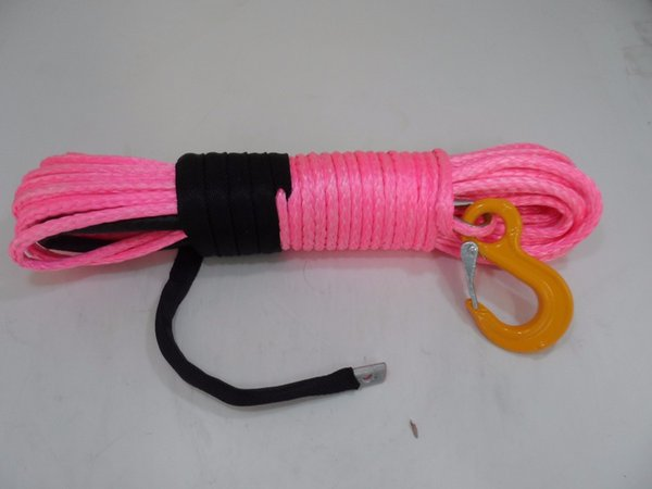 Wholesale-Pink 8mm*30m synthetic winch rope,for ATV/UTV electric winch 4x4,rocovery winch rope,winch line 8mm