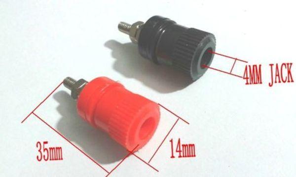Interesting/® 10Pcs Speaker Amplifier Terminal Binding Post For 4mm Banana Plug Socket Female Connector