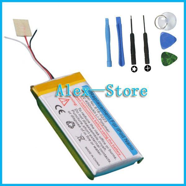 3.7 v bateria li-ion substituição para ipod nano 1 2 3 4 5 6 7 1o gen mp3 1 gb 2 gb 4 gb bateria para nano1 2 3 4 5 6 7 batter com ferramentas